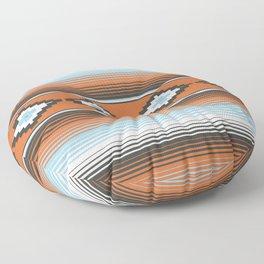 Modern Mexican Serape in Technicolor Floor Pillow