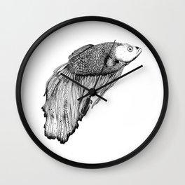 Siamese fighting fish Wall Clock