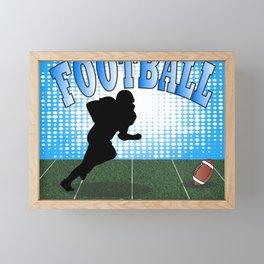 Football Player Framed Mini Art Print