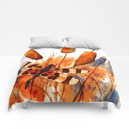 Banded Dragonfly and Cattails Comforters