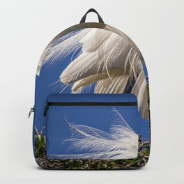 Great Egret Feathers Backpack