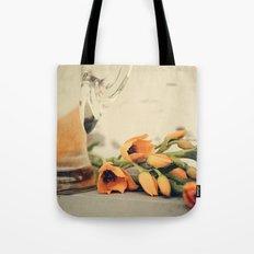 Tulips of orange Tote Bag