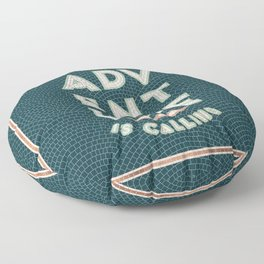 Adventure is Calling Mosaic – Mint & Teal Palette Floor Pillow