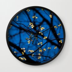 Leaves Of Spring Wall Clock