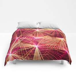 Raspberry Supernovae Geometric Abstract Comforters