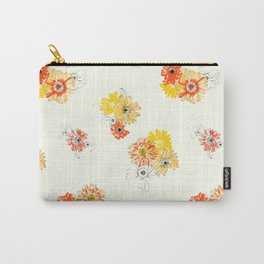 Sun Flowers Floral Pattern Carry-All Pouch