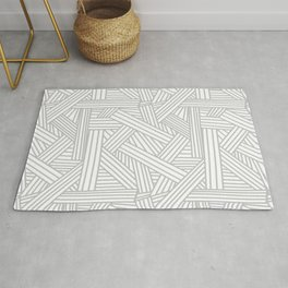 Sketchy Abstract (Gray & White Pattern) Rug
