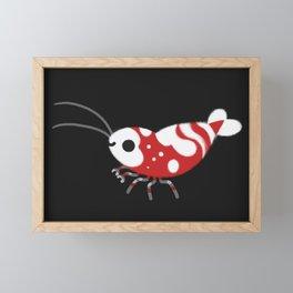 Red and blue shrimp Framed Mini Art Print
