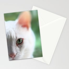 Green eye, pink nose Stationery Cards