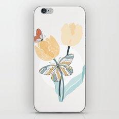 Butterflies and Tulips III iPhone & iPod Skin
