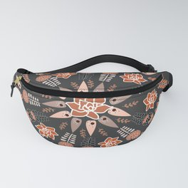 Floral whirl Fanny Pack
