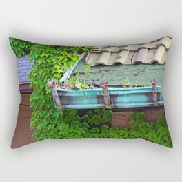 Old West End Mary Manse College Power Plant Roof Rectangular Pillow