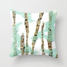 Sea Foam Dream Throw Pillow