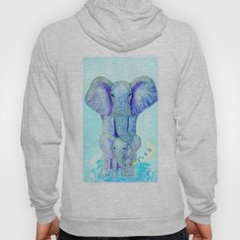 Baby elephant with mom Hoody