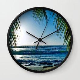 sunset surf Wall Clock