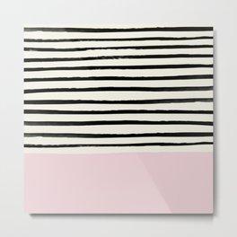 Bubblegum x Stripes Metal Print