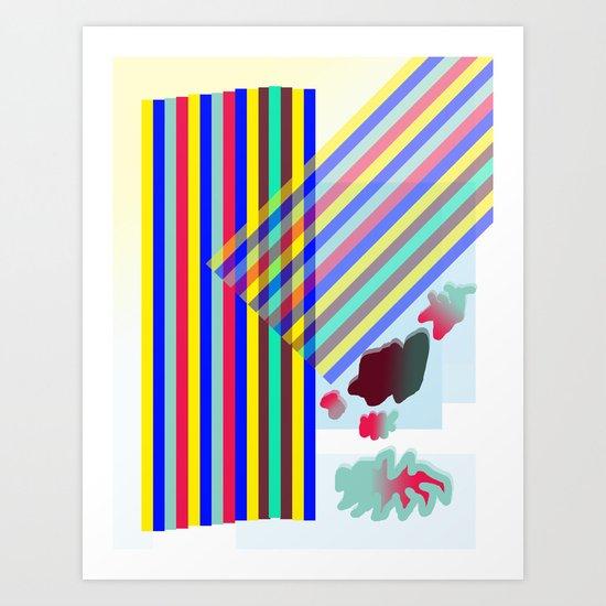 Square, underneath it all Art Print