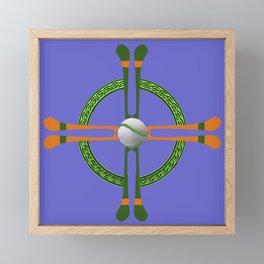 Hurley and Ball Celtic Cross Design - Solid colour background Framed Mini Art Print
