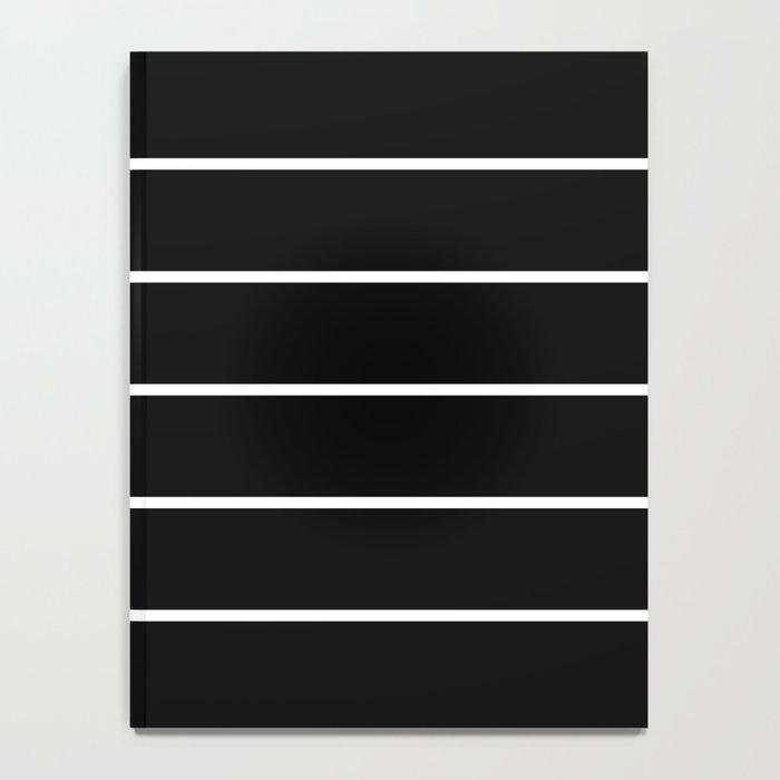 Black White Pinstripes Minimalist Notebook