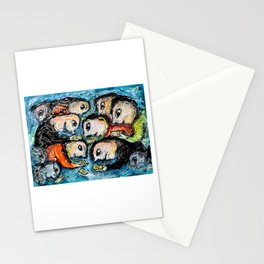 Cell phone addiction Stationery Cards