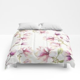 Delicate Magnolia 2 Comforters