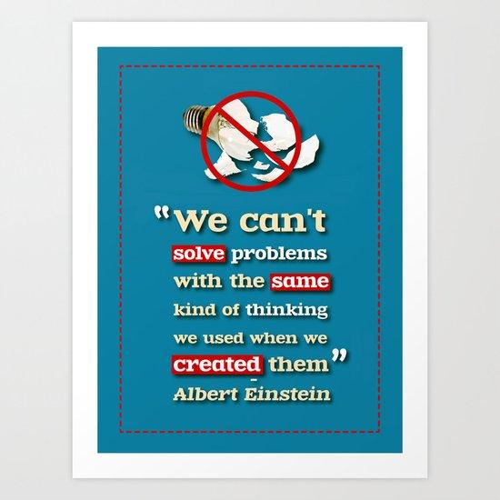 Einstein on Problem Solving Art Print