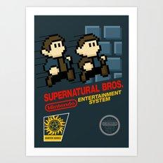 Supernatural  Bros. Box Art Art Print