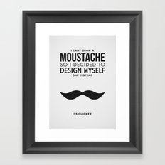 Digital Moustache. Framed Art Print