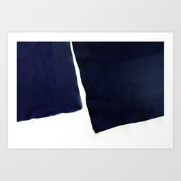 Minimal Navy Blue Abstract 01 Art Print