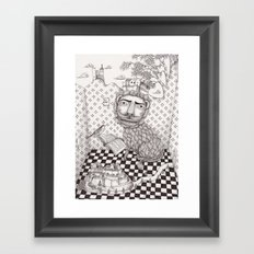 The Lion's Story Hour Framed Art Print