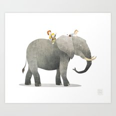 Wild Adventure - Elephant Art Print