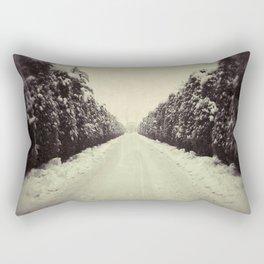 Avenue during a snowing. Rectangular Pillow