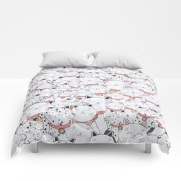 FIND THE PANDA - LUCKY CAT Comforters