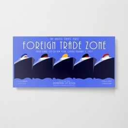 Foreign Trade Zone Staten Island Metal Print
