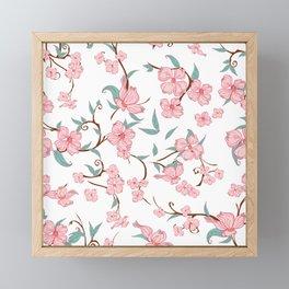Creepy Flowers Pattern Framed Mini Art Print