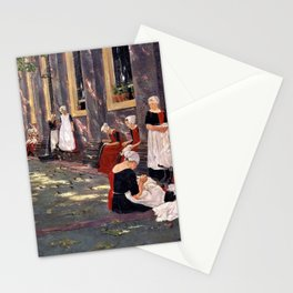 Max Liebermann - Free Period in the Amsterdam Orphanage - Digital Remastered Edition Stationery Cards