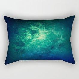 Green Nebula Space Rectangular Pillow