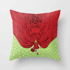 Going to Grandmother's House Throw Pillow