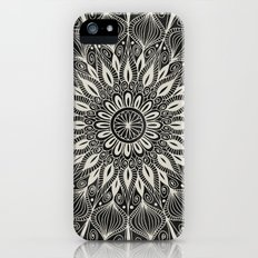 Vintage Mandala on black iPhone (5, 5s) Slim Case