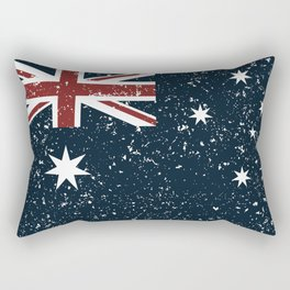 Old scratched Australian flag Rectangular Pillow