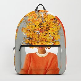 I Saw You Flower in the reflection of my Soul Backpack