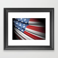 Flag of USA Framed Art Print