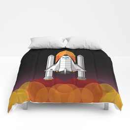 Space Shuttle night launch Comforters