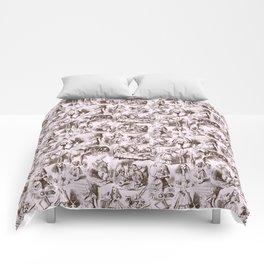 Alice in Wonderland   Toile de Jouy   Brown and Pink Comforters