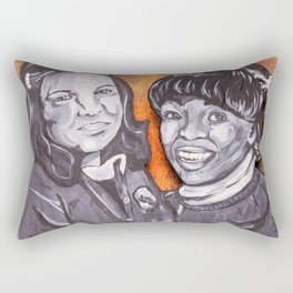 Natalie and Tootie, The Facts of Life Rectangular Pillow