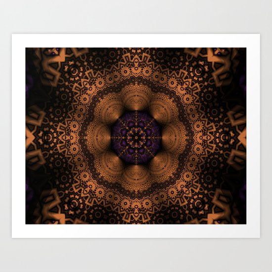 Copper Fantasia Art Print
