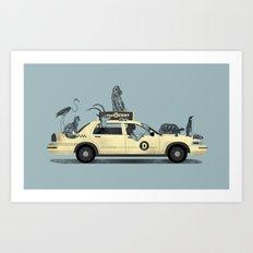 1-800-TAXI-DERMY Art Print