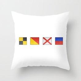 L  O  V  E - Navy Alphabet - Leather Throw Pillow