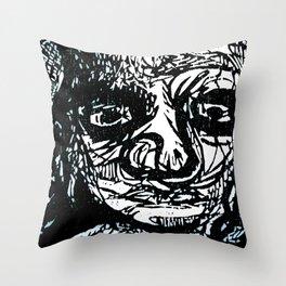 Face creature Throw Pillow