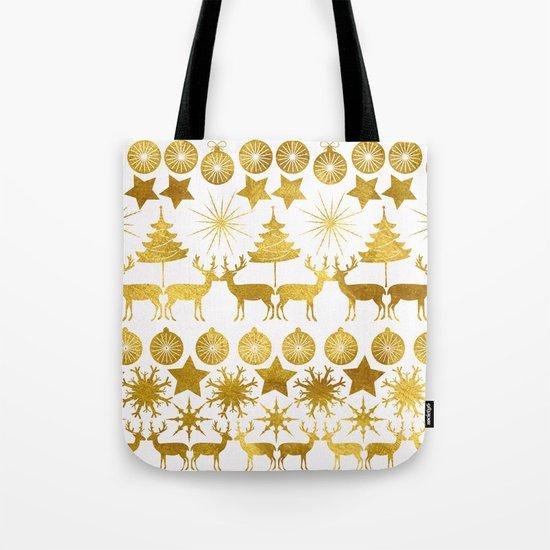 Gold Christmas 04 Tote Bag